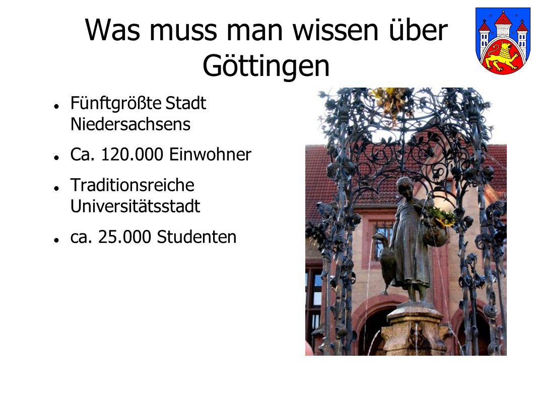 Was muss man wissen über Göttingen Fünftgrößte Stadt Niedersachsens Ca.