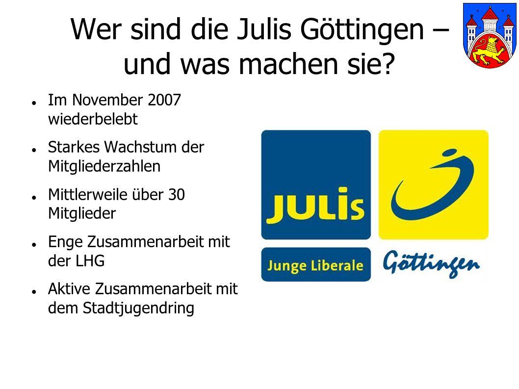 Wer sind die Julis Göttingen – und was machen sie.