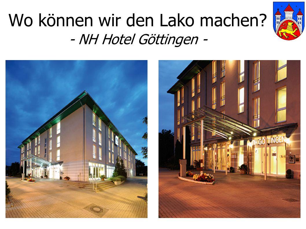 Wo können wir den Lako machen - NH Hotel Göttingen -