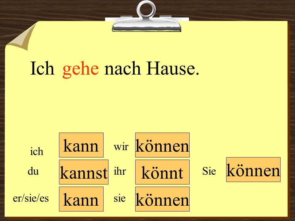 kann können wir du er/sie/es ich ihr sie können Sie Du ______ deine Freunde in Köln besuchen.