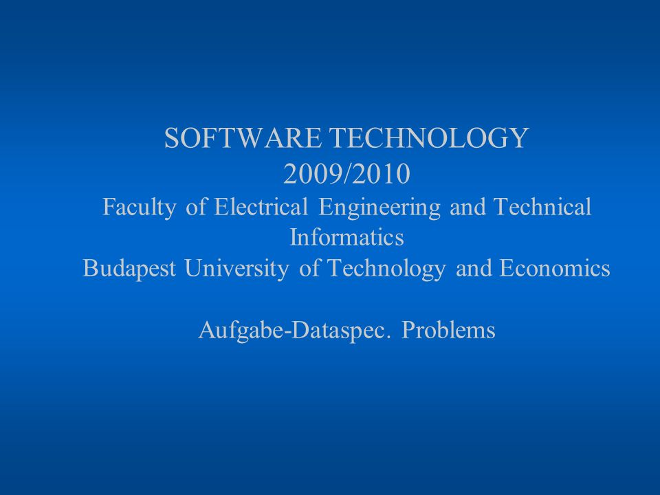 Software technology08.08.2006 © dr.Z.