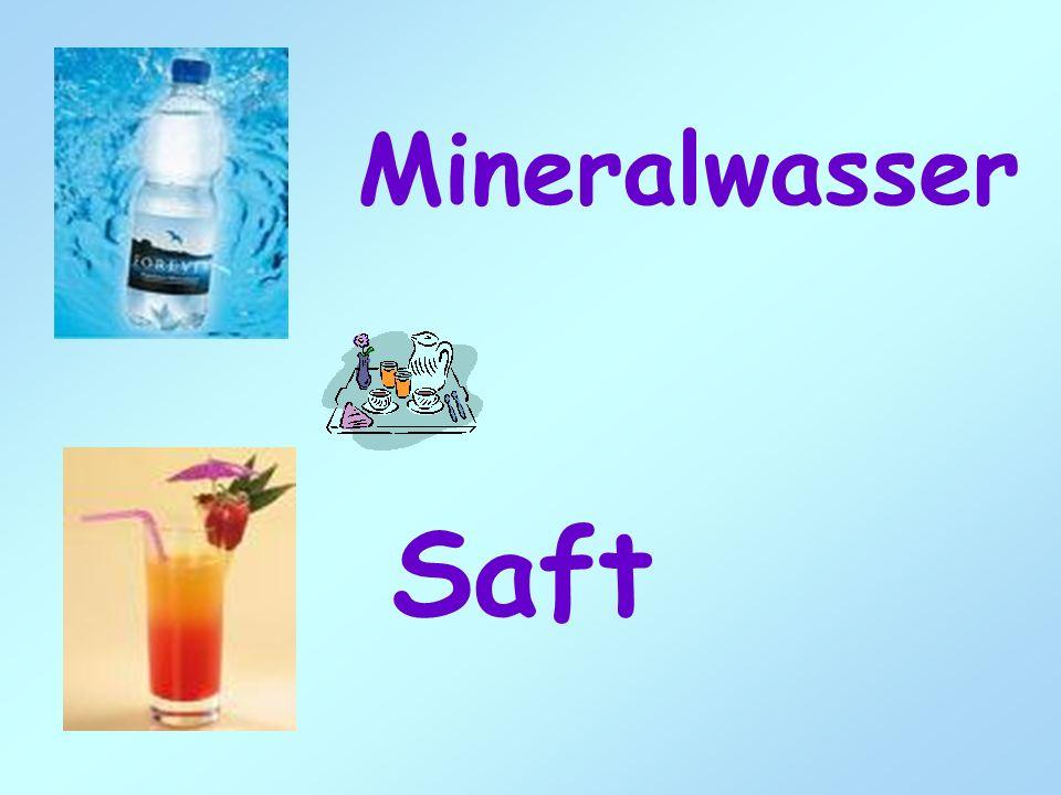 Mineralwasser Saft