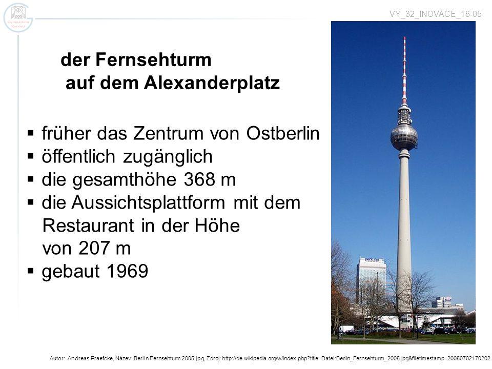 Autor: Andreas Praefcke, Název: Berlin Fernsehturm 2005.jpg, Zdroj: http://de.wikipedia.org/w/index.php?title=Datei:Berlin_Fernsehturm_2005.jpg&fileti