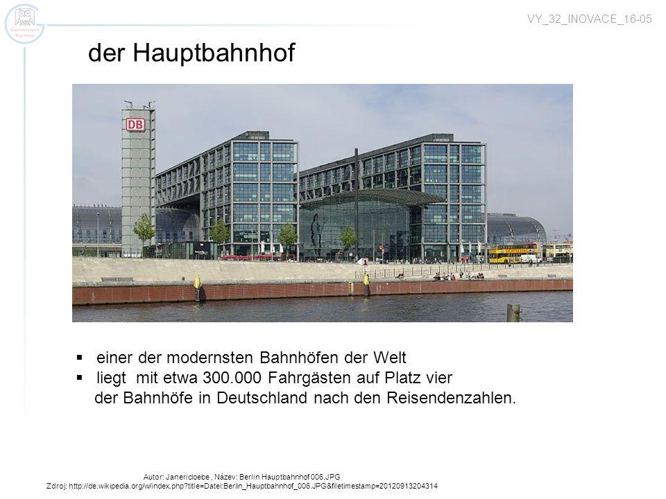 Autor: Janericloebe, Název: Berlin Hauptbahnhof 006.JPG Zdroj: http://de.wikipedia.org/w/index.php?title=Datei:Berlin_Hauptbahnhof_006.JPG&filetimesta