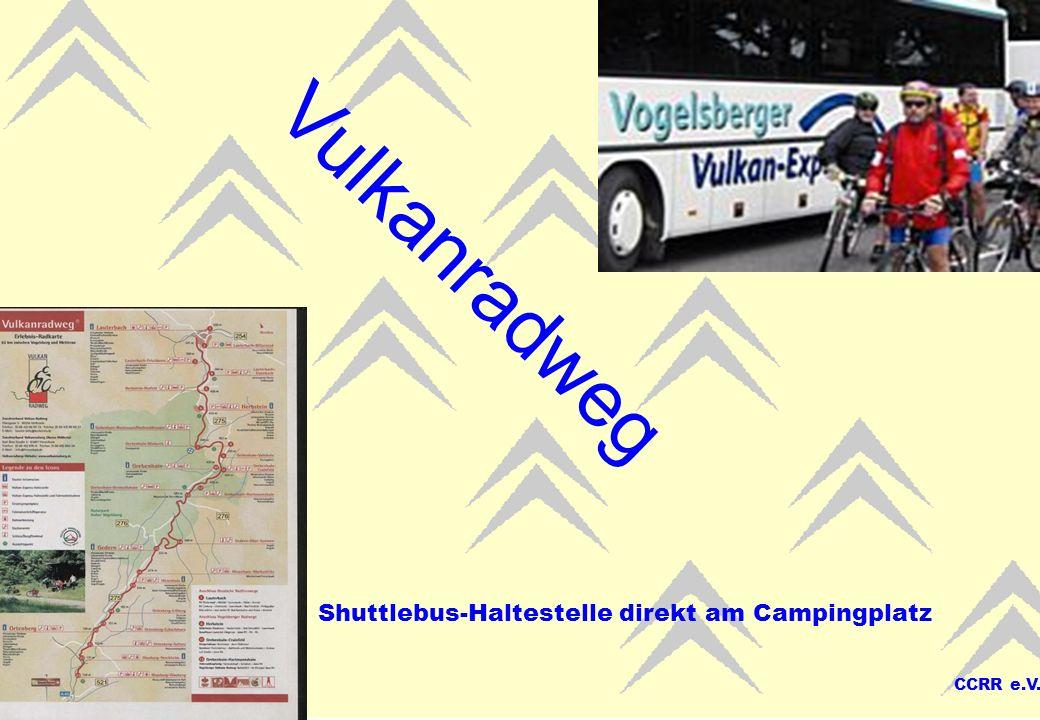 Vulkanradweg Shuttlebus-Haltestelle direkt am Campingplatz CCRR e.V.