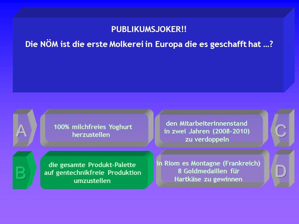 den MitarbeiterInnenstand in zwei Jahren (2008-2010) zu verdoppeln PUBLIKUMSJOKER!.