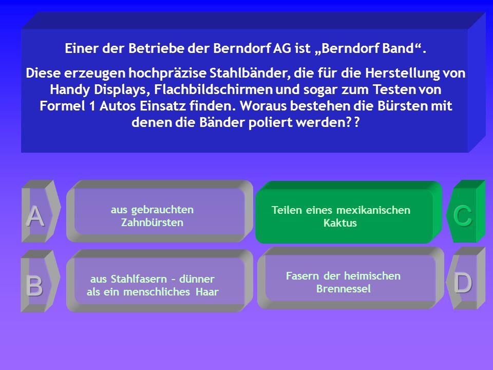 Teilen eines mexikanischen Kaktus Einer der Betriebe der Berndorf AG ist Berndorf Band.