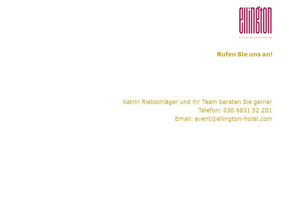 Rufen Sie uns an. Katrin Riebschläger und ihr Team beraten Sie gerne.