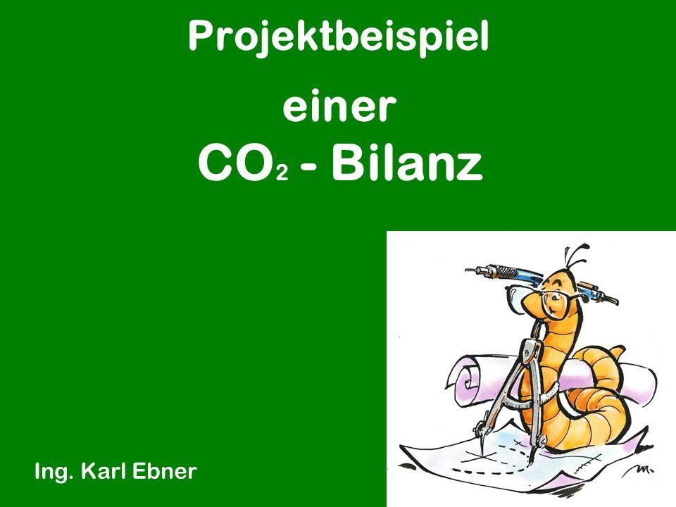 Projektbeispiel Ing. Karl Ebner einer CO 2 - Bilanz