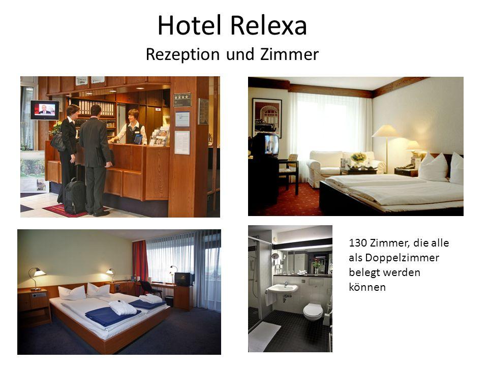 Hotel Relexa Rezeption und Zimmer 130 Zimmer, die alle als Doppelzimmer belegt werden können