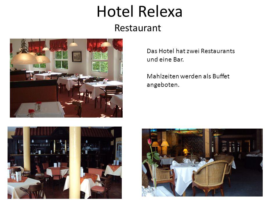 Hotel Relexa Restaurant Das Hotel hat zwei Restaurants und eine Bar.