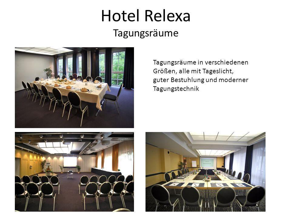 Hotel Relexa Tagungsräume Tagungsräume in verschiedenen Größen, alle mit Tageslicht, guter Bestuhlung und moderner Tagungstechnik