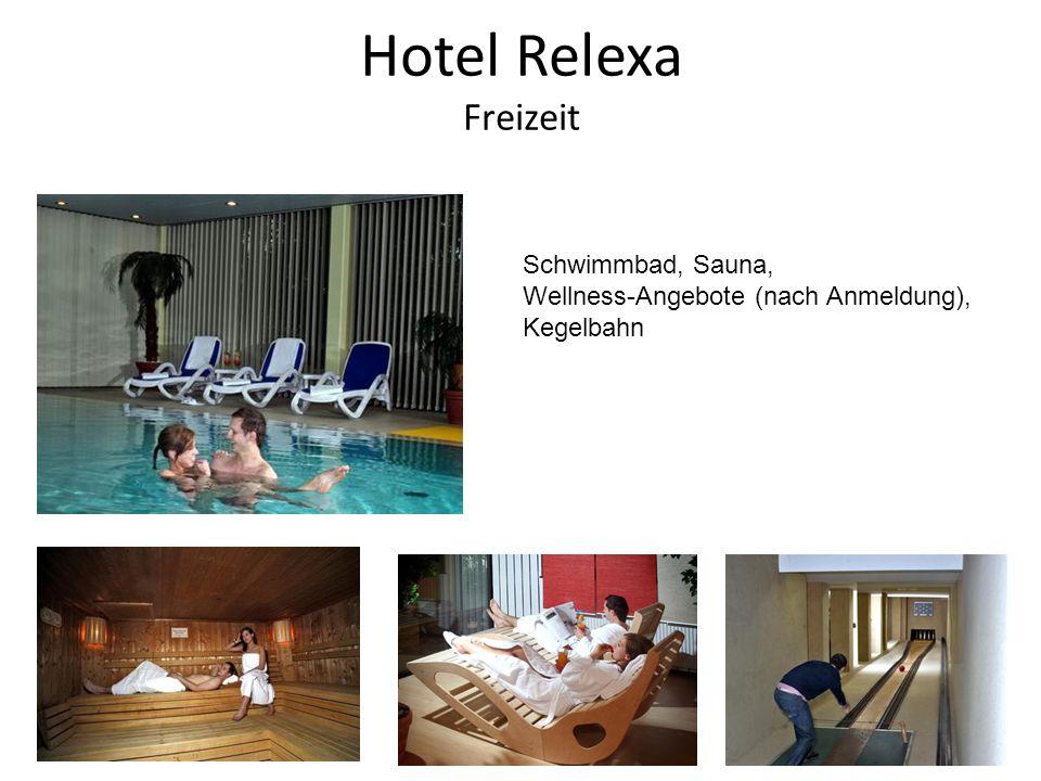 Hotel Relexa Freizeit Schwimmbad, Sauna, Wellness-Angebote (nach Anmeldung), Kegelbahn