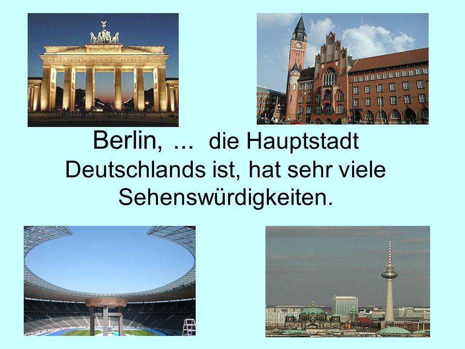 Diese Stadt,... an der Elbe liegt, nennt... die Elbflorenz.