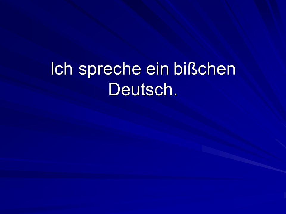 Ich spreche ein bißchen Deutsch.