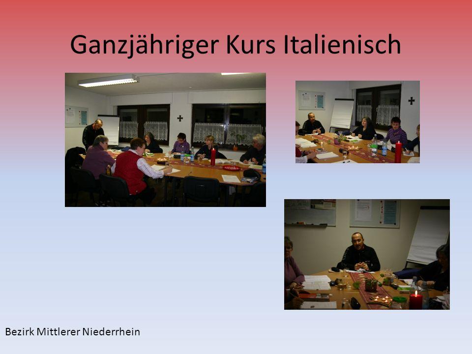 Ganzjähriger Kurs Italienisch Bezirk Mittlerer Niederrhein