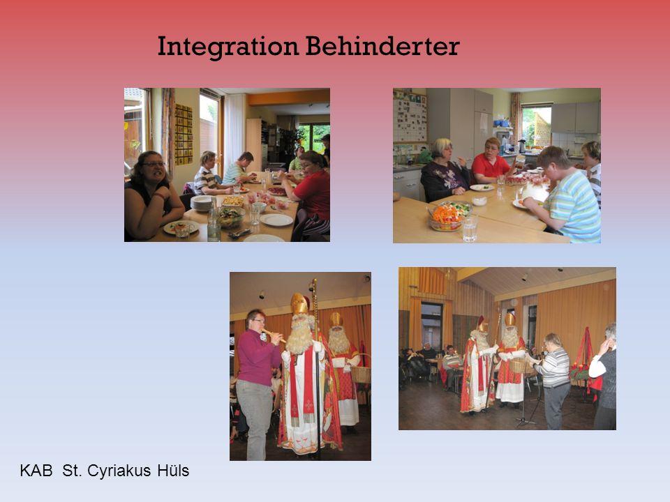 Integration Behinderter KAB St. Cyriakus Hüls