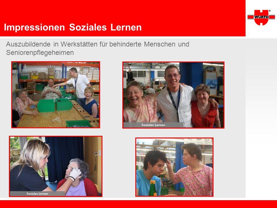 Impressionen Soziales Lernen Auszubildende in Werkstätten für behinderte Menschen und Seniorenpflegeheimen