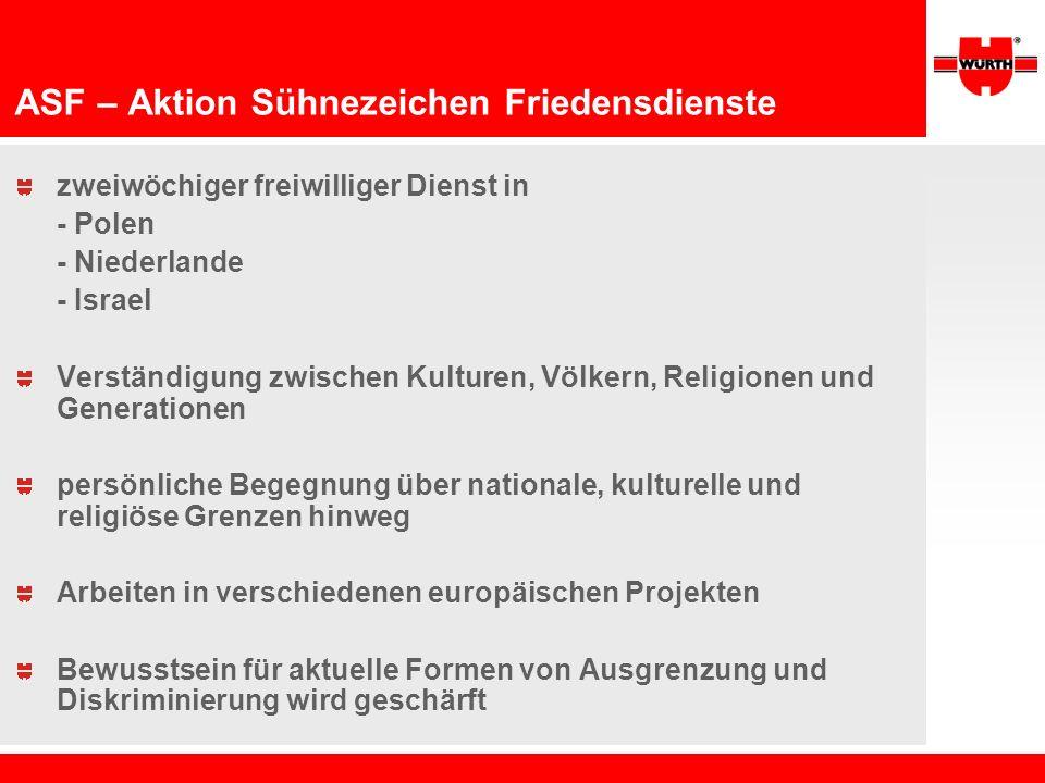 ASF – Aktion Sühnezeichen Friedensdienste zweiwöchiger freiwilliger Dienst in - Polen - Niederlande - Israel Verständigung zwischen Kulturen, Völkern,