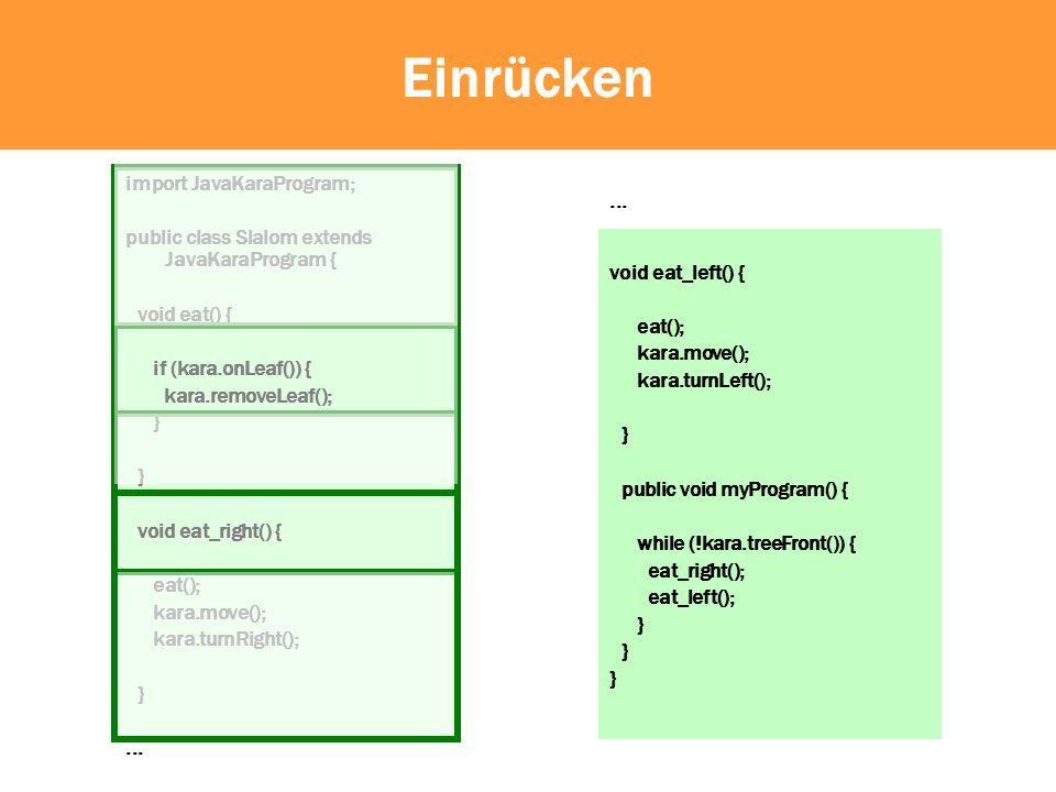 Gross-/Kleinschreibung Java unterscheidet zwischen Gross- und Kleinschreibung.