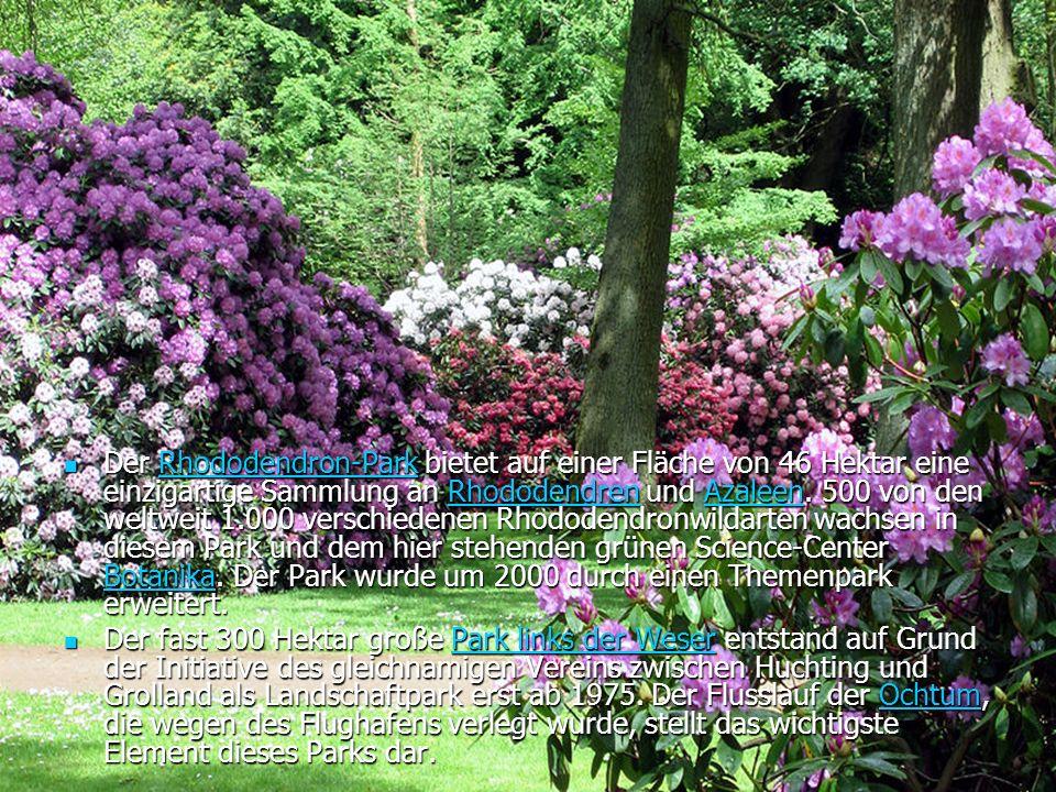 Der Rhododendron-Park bietet auf einer Fläche von 46 Hektar eine einzigartige Sammlung an Rhododendren und Azaleen.