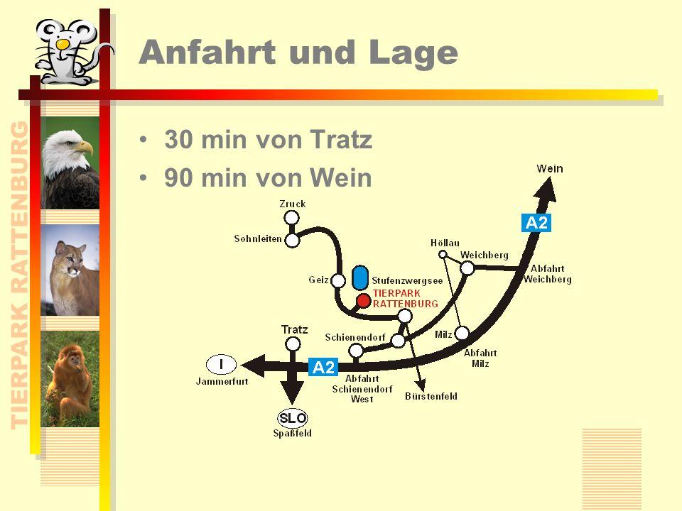 TIERPARK RATTENBURG Anfahrt und Lage 30 min von Tratz 90 min von Wein