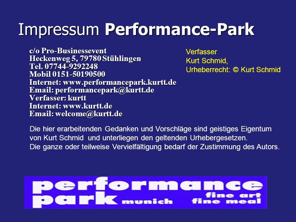 Impressum Performance-Park c/o Pro-Businessevent Heckenweg 5, 79780 Stühlingen Tel.