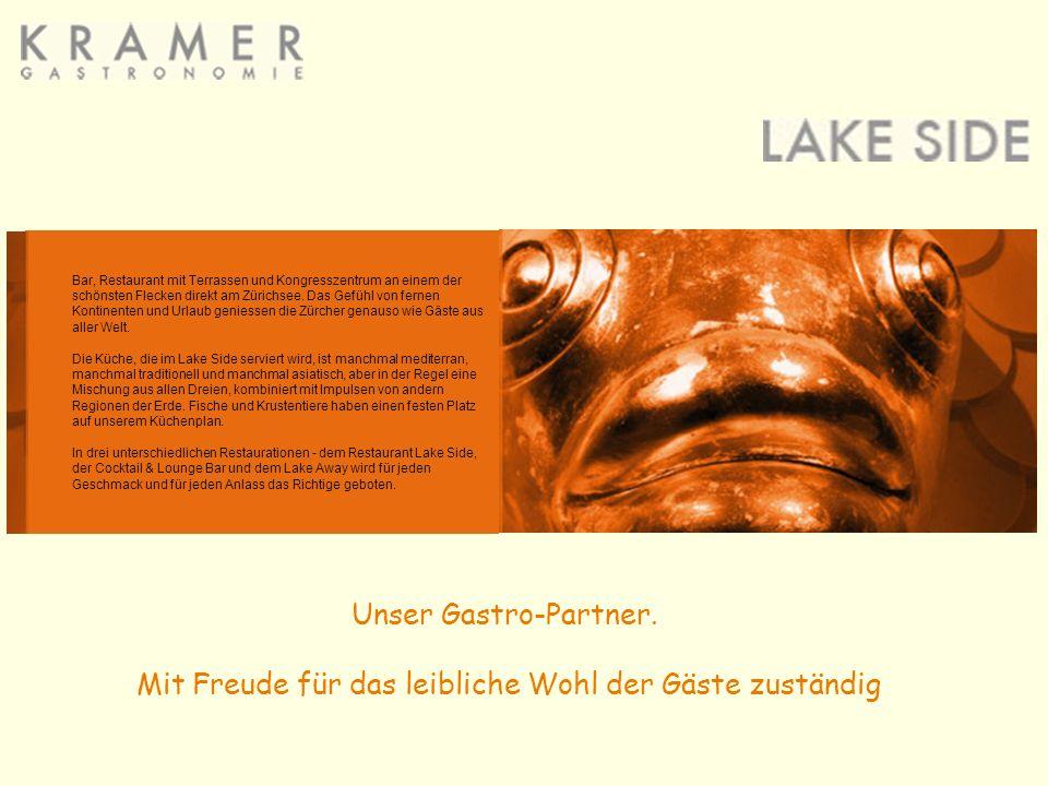 Bar, Restaurant mit Terrassen und Kongresszentrum an einem der schönsten Flecken direkt am Zürichsee.