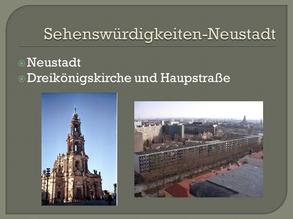 Neustadt Dreikönigskirche und Haupstraße