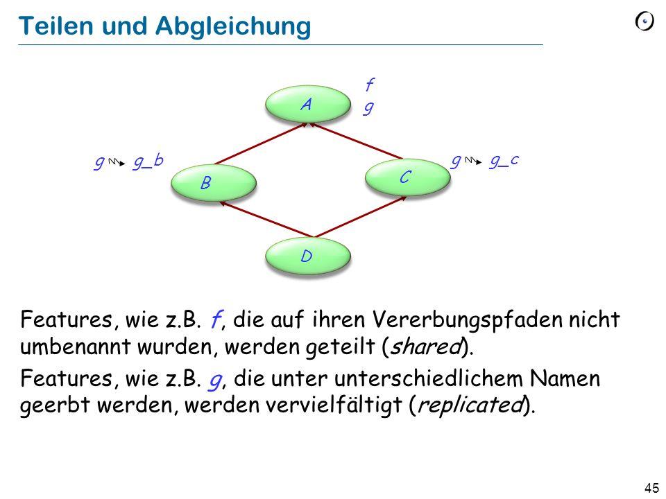 45 Teilen und Abgleichung Features, wie z.B.