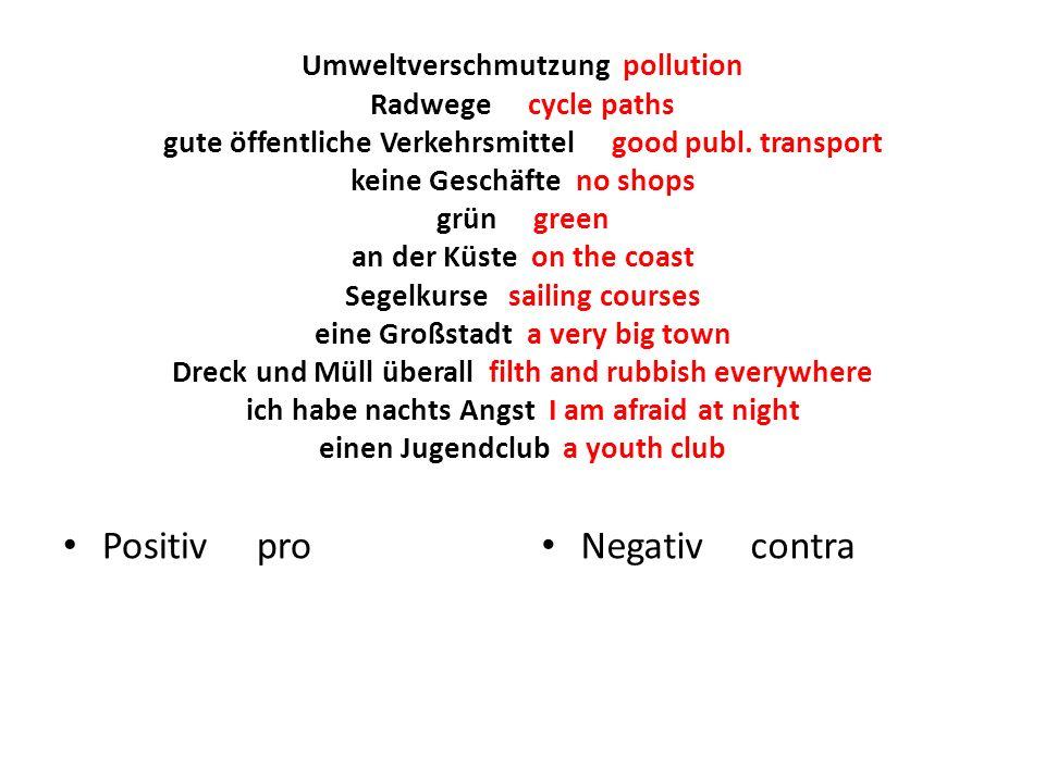 Umweltverschmutzung pollution Radwege cycle paths gute öffentliche Verkehrsmittel good publ.