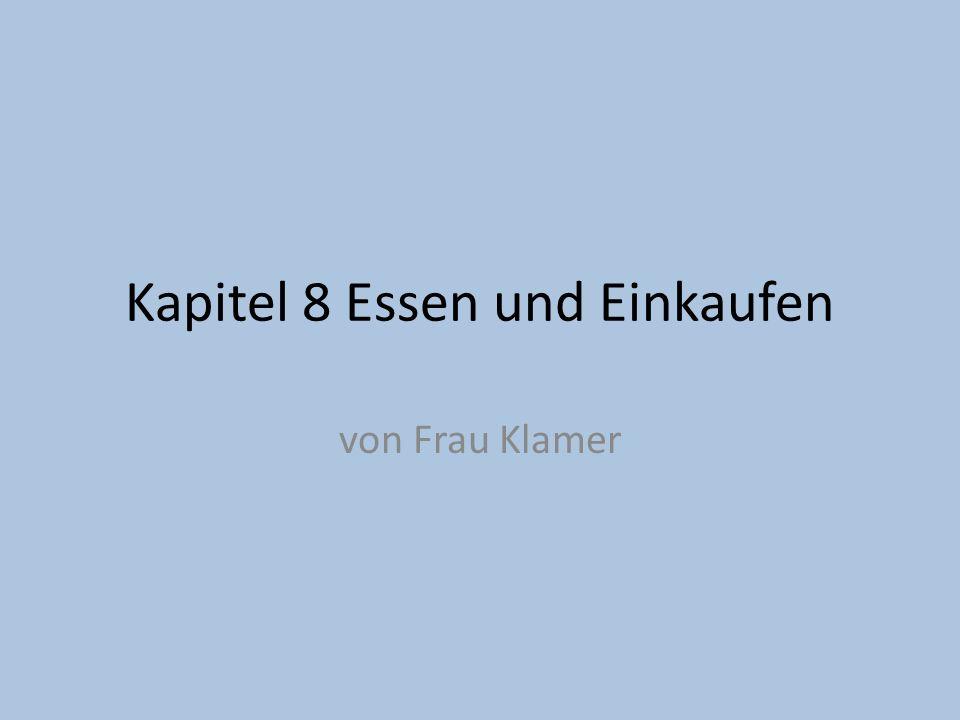 Hörverständnis Übung A: Deutsches Essen.Stefan war in den Ferien in Deutschland.