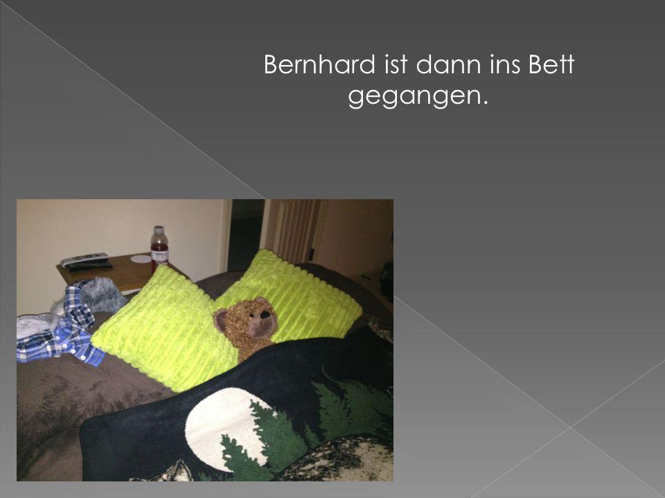 Bernhard ist dann ins Bett gegangen.