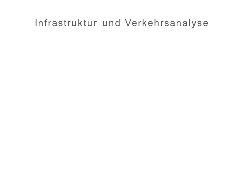 Infrastruktur und Verkehrsanalyse