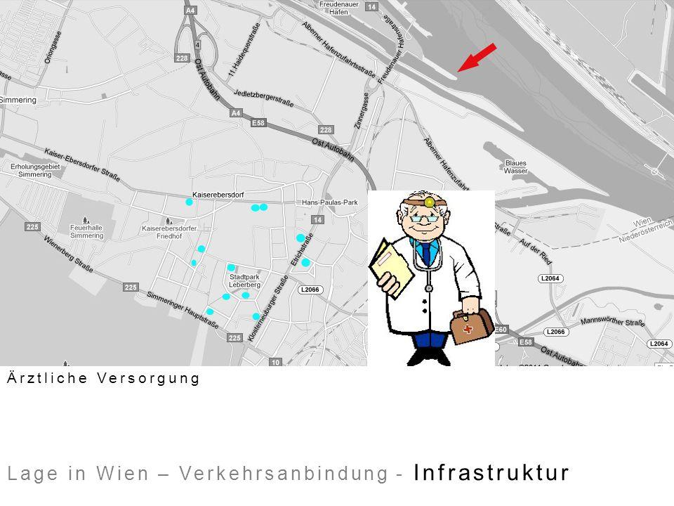 Lage in Wien – Verkehrsanbindung - Infrastruktur Ärztliche Versorgung