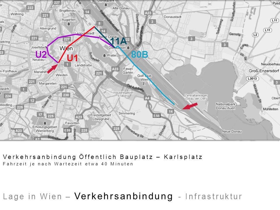 Lage in Wien – Verkehrsanbindung - Infrastruktur Schulen und Kindergärten