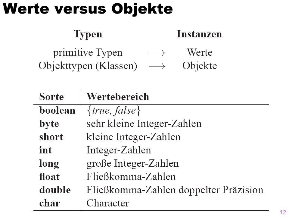 Werte versus Objekte 12