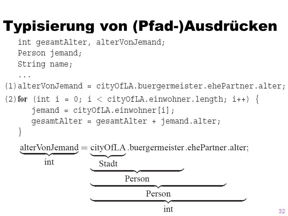 Typisierung von (Pfad-)Ausdrücken 32