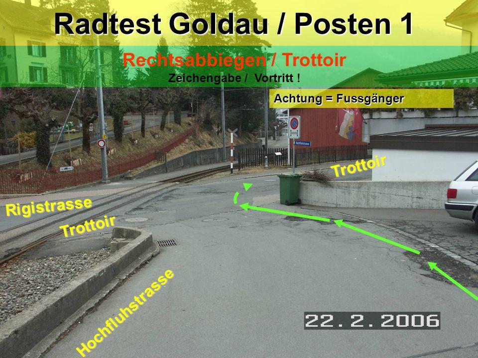 Start und Ziel Radtest Goldau 2 1 3 4 5 6 7 8 9 10