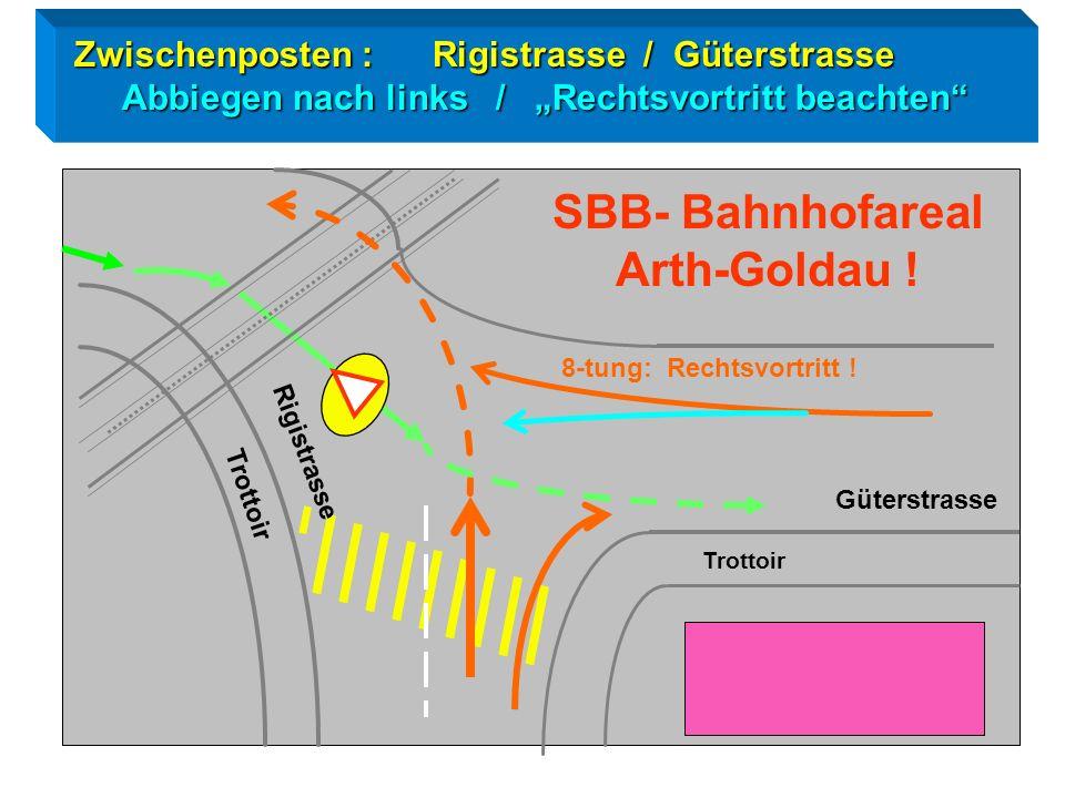McDonald's Bahnhofstrasse Parkstrasse Posten 9: Kreisel / Bahnhofstrasse Posten 9: Kreisel / Bahnhofstrasse Verhalten im Kreisel Blickkontakt Handzeic