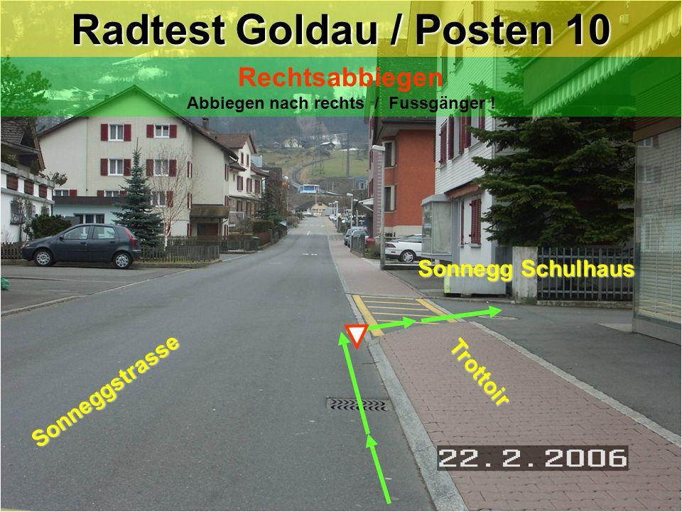 8-tung: Rechtsvortritt ! Güterstrasse Trottoir Trottoir Rigistrasse SBB- Bahnhofareal Arth-Goldau ! Zwischenposten : Rigistrasse / Güterstrasse Zwisch
