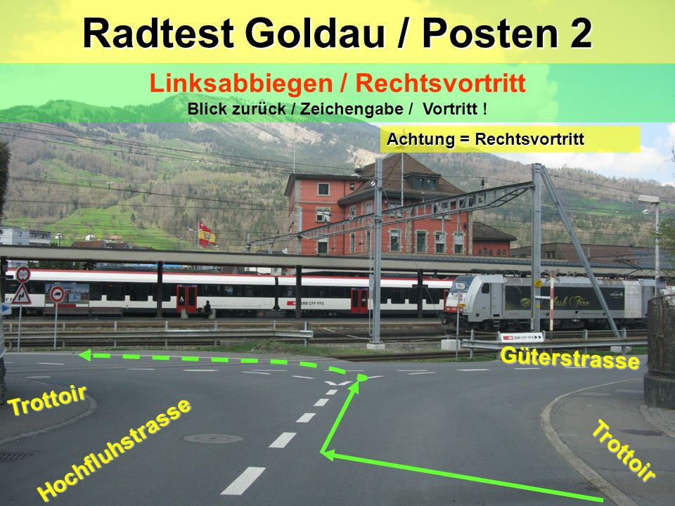 Rigistrasse Hochfluhstrasse Trottoir Trottoir Achtung