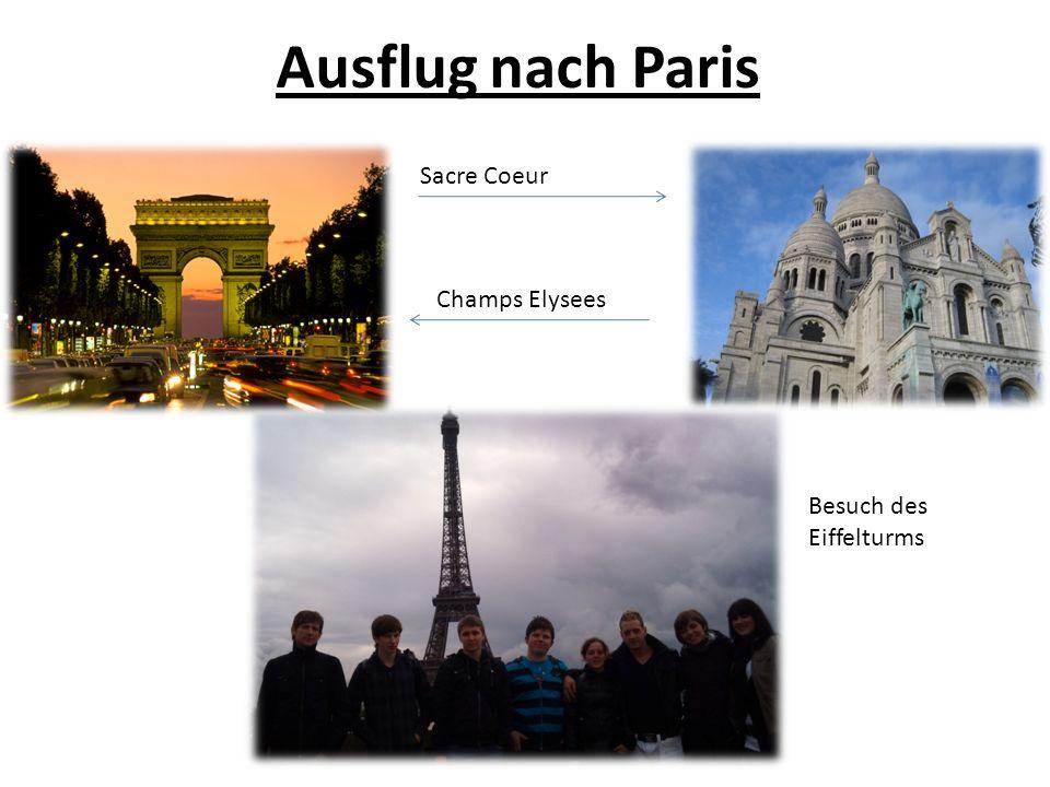 Ausflug nach Paris Besuch des Eiffelturms Sacre Coeur Champs Elysees