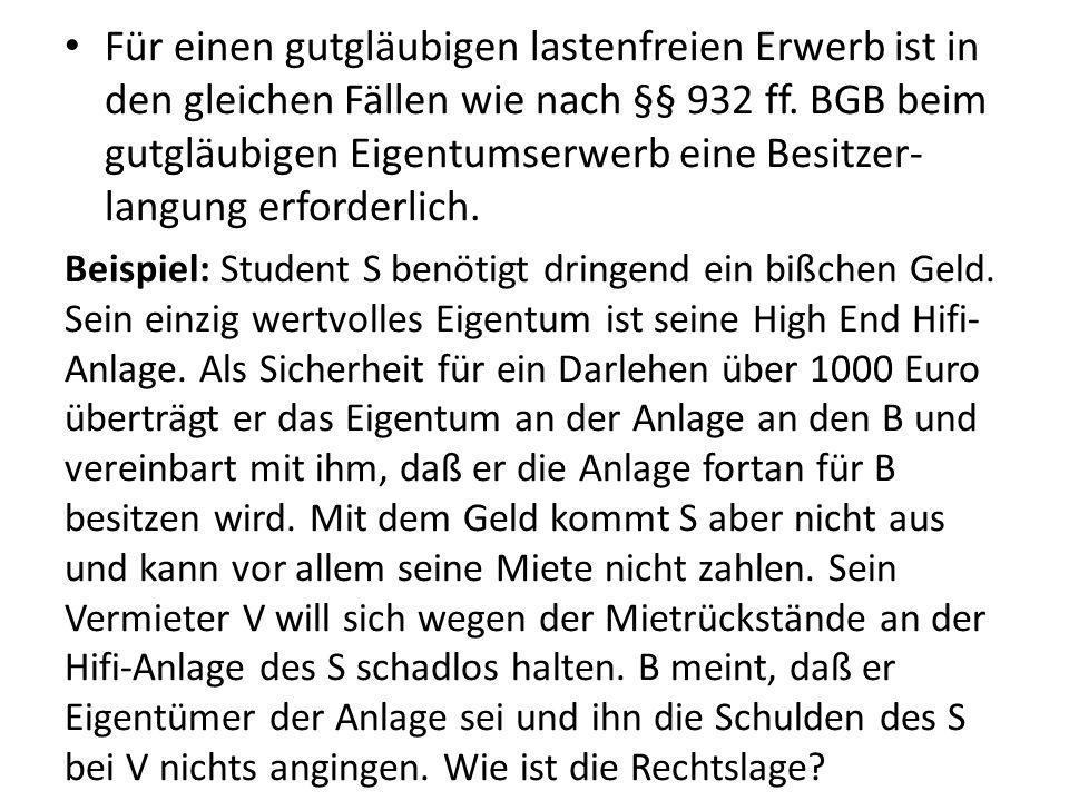 IV.Der Erwerb des Eigentums 3.