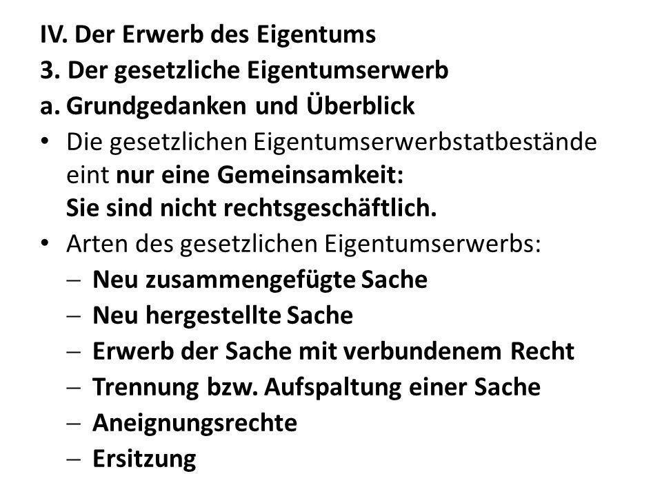 g.Aneignung und Dereliktion (§§ 958 ff.