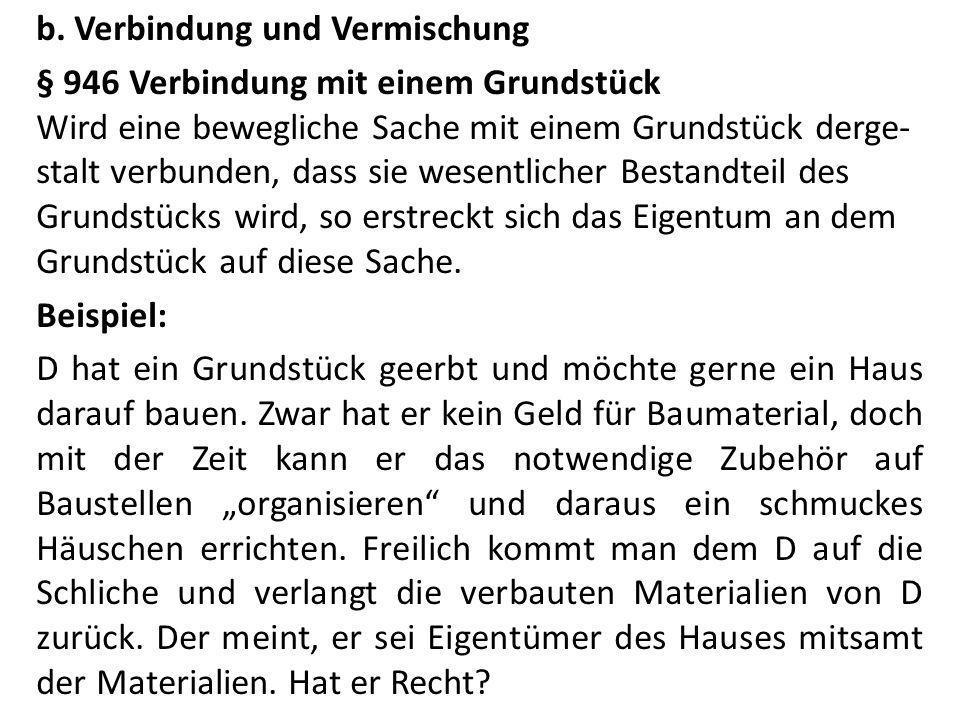 e.Das Eigentum an Urkunden Bei Schuldurkunden iSd § 952 Abs.