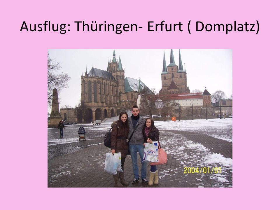 Ausflug: Thüringen- Erfurt ( Domplatz)