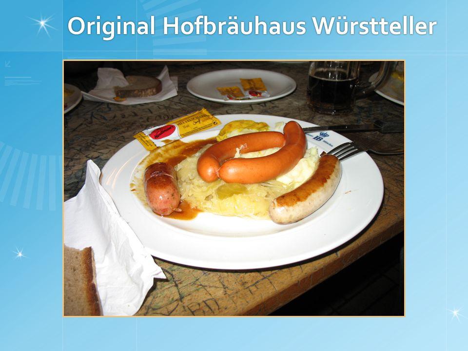 Original Hofbräuhaus Würstteller
