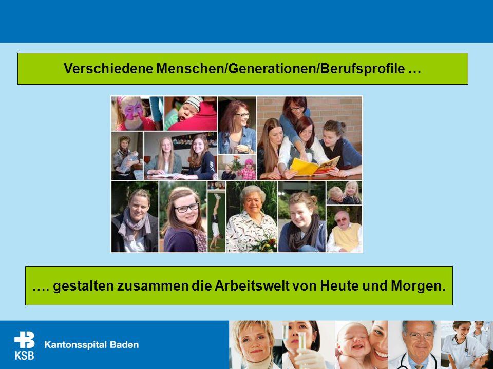 Verschiedene Menschen/Generationen/Berufsprofile … …. gestalten zusammen die Arbeitswelt von Heute und Morgen.