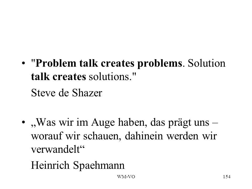 WM-VO154 Problem talk creates problems.